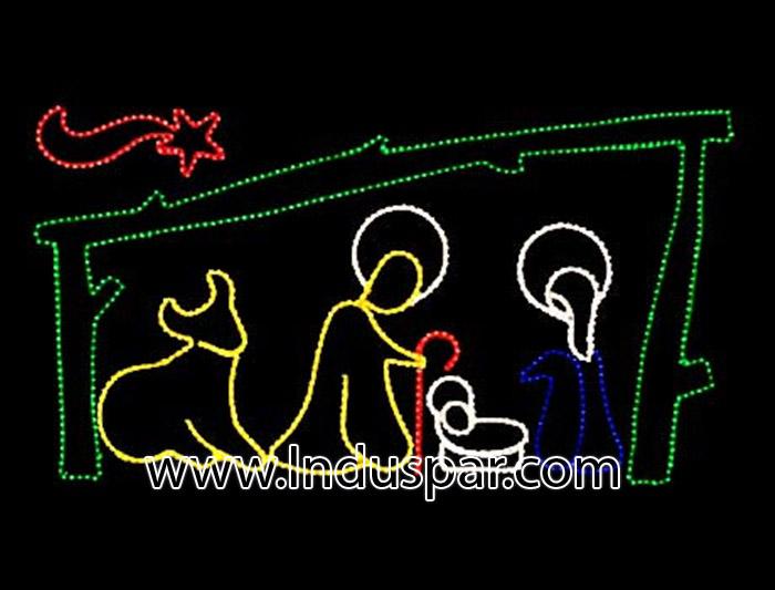 enfeites de natal para jardim iluminados : enfeites de natal para jardim iluminados: FG 028 – NATAL -DECORAÇÕES DE NATAL LED -Decoração Fachadas