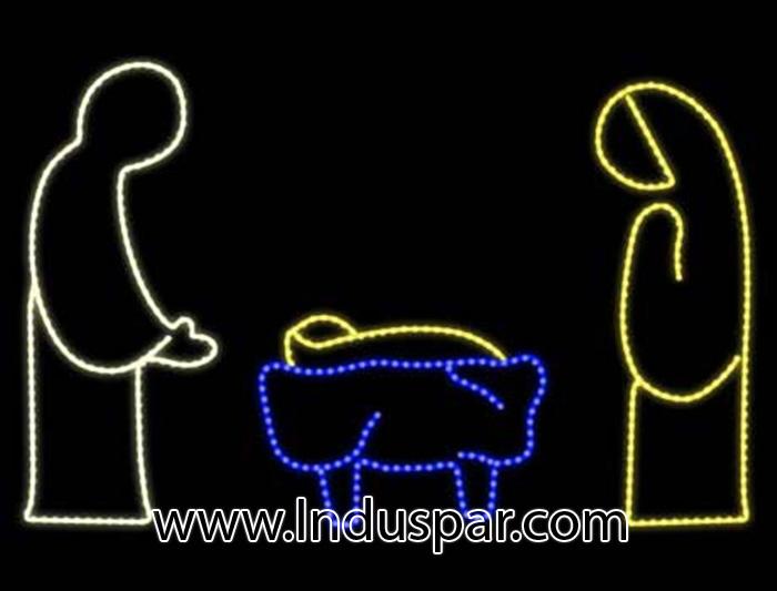 enfeites de natal aramados para jardim: – FM 026 – NATAL -DECORAÇÕES DE NATAL LED -Decoração Fachadas