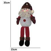 Papai Noel de Luxo Pel�cia 0091 com Led com 35cm de Altura CBRN0524