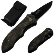 Canivete Manual L�mina Negra Inox Taue Luxo WMTKA408 Camuflado + Bolsa