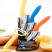 Faca Cer�mica L�mina Branca Happily Home Living Kit 3 Facas - CBR-1005