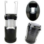 Lampi�o Lanterna p/ Camping a Pilhas 4 LEDS PRETO CBRN01255