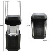 Lampi�o Lanterna p/ Camping a Pilhas 6 LEDS PRETO CBRN01262
