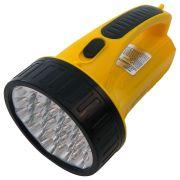 Lanterna LED Lumin�ria Emerg�ncia WMTLED-1706 Amarelo 19 LEDS 1300mAh