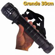 Lanterna T�tica Led Cree grande com al�a bussola a Pilhas 30cm CBRN01521