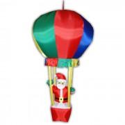 Papai Noel no Bal�o PW109 Infl�vel Natal 1,70m Iluminado