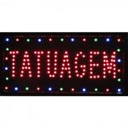 Placa Led Quadro Letreiro Luminoso Decorativo Tatuagem 1608