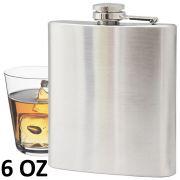 Porta whisky vodka garrafa de a�o port�til cantil 6 oz 177ml CBRN01453