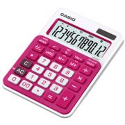 Calculadora de mesa Casio Colorful MS-20NC-RD 12 d�gitos, Big display, Rosa escuro