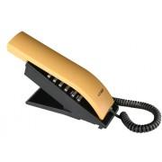 Telefone com Fio T-Klar TK-BEO Preto e Amarelo, Designer moderno e diferenciado, teclado alfanum�rico, ajuste de volume da campainha, redial.