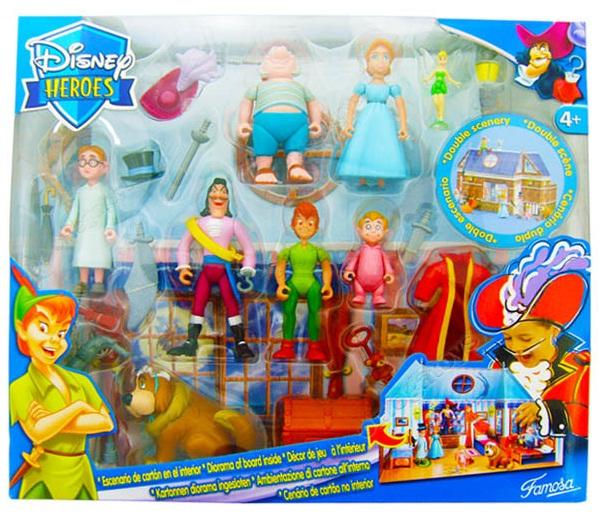 Cen�rio com Bonecos Peter Pan Disney Heroes - Famosa