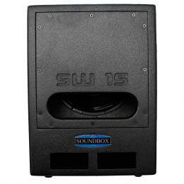 SW15 - Subwoofer Ativo 1000W SW 15 Preto - SoundBox