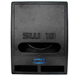 SW18 - Subwoofer Ativo 1000W SW 18 Preto - SoundBox