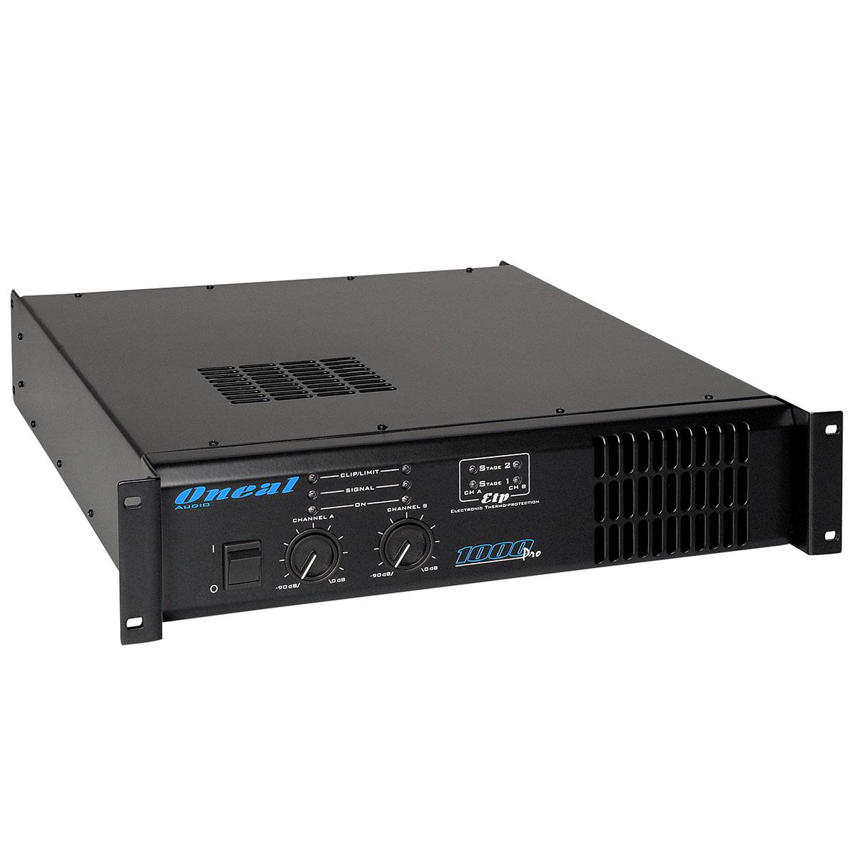 1000PRO - Amplificador Est�reo 2 Canais 1000W 1000 PRO - Oneal