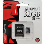 Cart�o de Mem�ria microSDHC 32GB Kingston SDC4/32GBSP