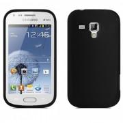 Capa Silicone para Samsung Galaxy S Duos S7562 - Cor Preto