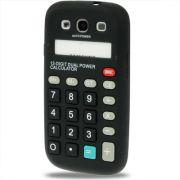 Capa Personalizada Retro Calculadora para Samsung Galaxy S3 S III i9300 - Preto