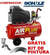 Compressor De Ar Schulz Original 25l Gratis Kit De Pintura - GIFTCENTER