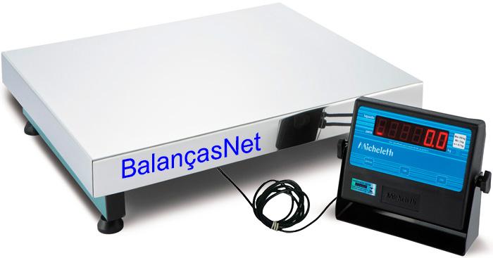 BALAN�A ELETR�NICA INOX - 300kg - 50x60-MICHELETTI  - Balan�a I Digital I Eletr�nica I Comercial I Industrial I Balan�as Net