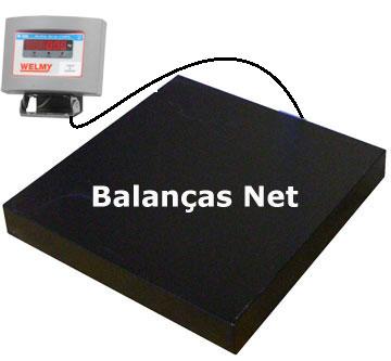 BALAN�A ELETR�NICA 300kg 40x50 (W-300) WELMY  - Balan�a I Digital I Eletr�nica I Comercial I Industrial I Balan�as Net