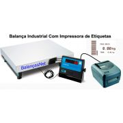 BALAN�A ELET. INOX 300kg - 50x60 - Com Impressora