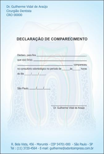 Declara��o de Comparecimento - Ref. 3551