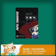 Papel Transfer Escuro p/ 100% Algod�o 140gr A4 60 Folhas