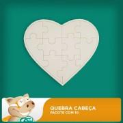 Quebra-Cabe�a Cora��o 10 Pe�as Pacote com 10