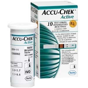 Fita de Glicemia  Accu Check Active caixa com 10 unidades - Roche