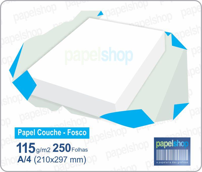 Papel Couche Fosco  115 Gr. 215x315 - 250 Fls.  - Papel Shop