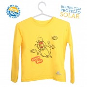 Camiseta Mundo Bita Amarela Longa � UV.action