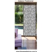 003 - Adesivo Decorativo para Vidro Arabesco Moderno Floral 210x90cm