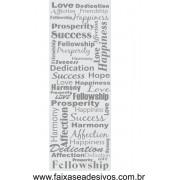 019 - Adesivo Decorativo para Vidro Texto Ingl�s 2,20 x 0,90m