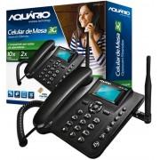 Telefone Celular Rural Fixo Aquario Ca 40 3g  5 bandas e  Modem 3g