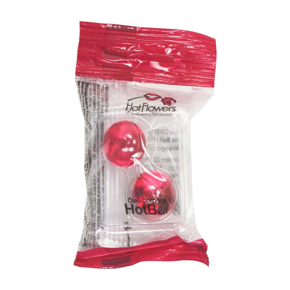 �leo Corporal Hot Ball Beija Muito Frutas Vermelhas Lubrificante - HFHC323