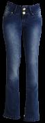 Cal�a fem. jeans marinho flear