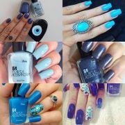 7 tons de azuis por Fl�via Alessandra
