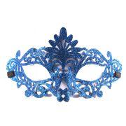 M�scara Glitter Vazada Azul un.