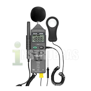HTM-401 Termo Higro Decibel�metro Lux�metro 4x1