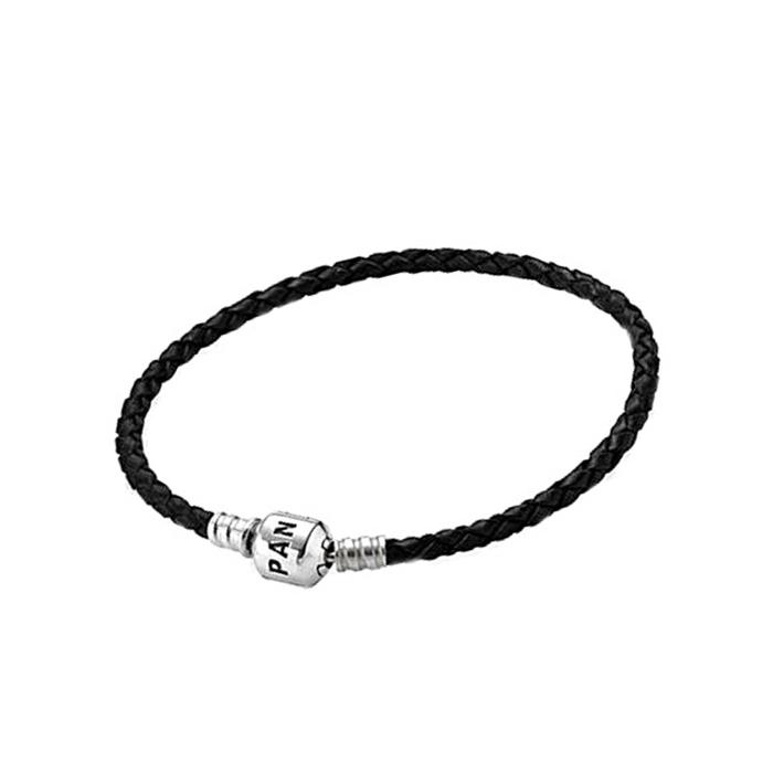 Pulseira Pandora Couro Import.- PAN003