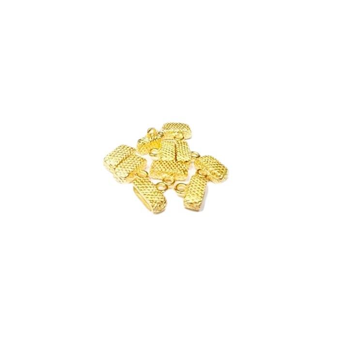 Terminal Colagem Achatado Pequeno TCD019-10 pe�as