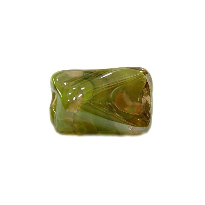 Facetado de murano G verde pistache irisado- MU559