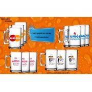 12 canecas de chopp personalizada 330 ml