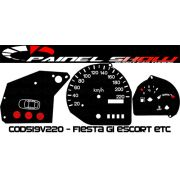 Kit Translucido p/ Painel - Cod519v220 - Fiesta Escort com Desenho Carrinho