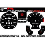 Kit Transl�cido p/ Painel - Cod542v200 VW - Gol Parati Santana Passat