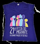 Camiseta baby look 21� Festa do Imigrante