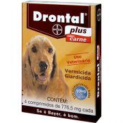 Drontal Plus Sabor Carne 4 Comprimidos