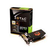 Placa de v�deo NVidia Geforce GTX 750 1GB 128-Bit GDDR5 Zotac - 5000MHz - GPU 1033MHz - 512 CUDA Cores - Low Profile - HDMI/DVI/VGA