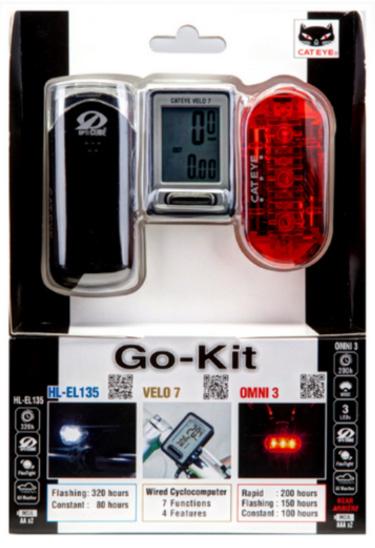 Kit Farol-Vista Light-Ciclo Cateye EL135-LD135-VL520