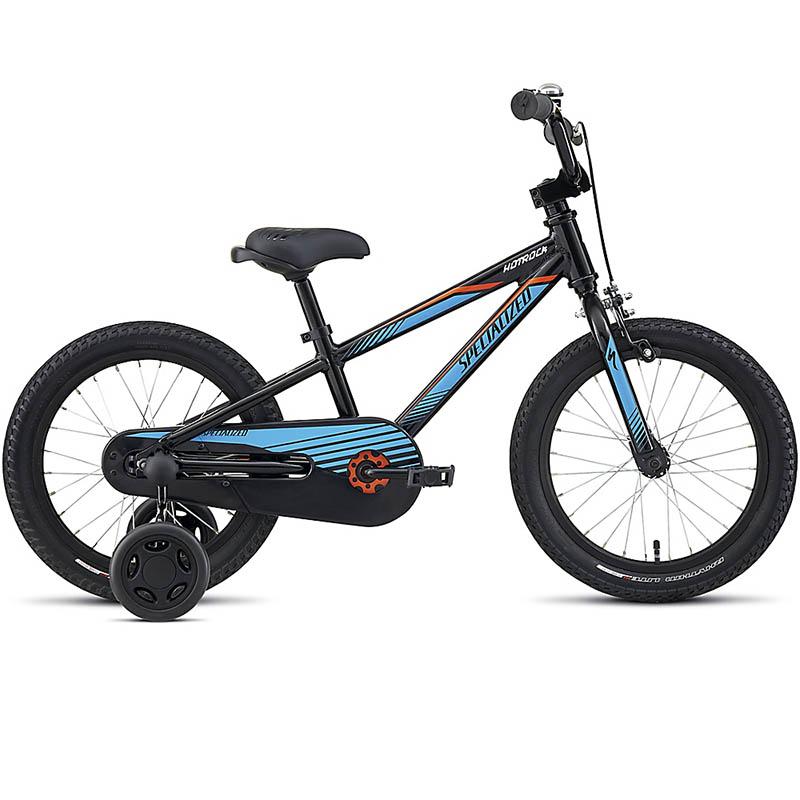 Bicicleta Specialized Hotrock Aro 16 Preto/Azul/Laranja